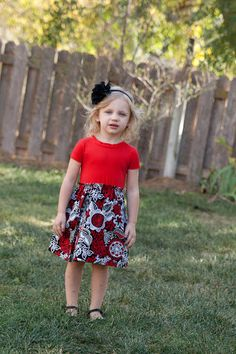Knit-Woven Pattern Long Sleeve Pattern Easy Dress by ThreadCouture
