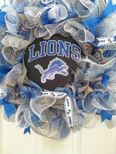 Large Mesh Ribbon Detroit Lions NFL Pro by DesignTwentyNineSC