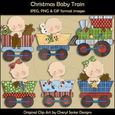 Baby Train Clip Art | Clip Art :: Baby :: Christmas Baby Train - Graphics 4 Kids