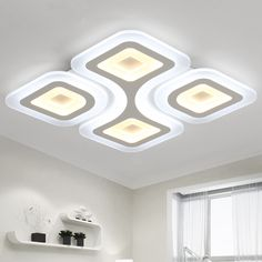 Ceiling Lights Led Ceiling Light With Ultra-thin Acrylic And Wooden Lamp Ceiling For Kids Room Baby Room Bedroom Flush Mount Lamparas De Techo Clear And Distinctive Lights & Lighting