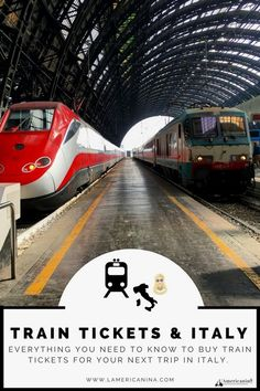 Train Tickets & Italy | L'Americanina | trains, travel, Italy, travel in Italy, travel tips, Europe, Italia, treni, public transportation. #italy #travelinitaly #ItalyTravel