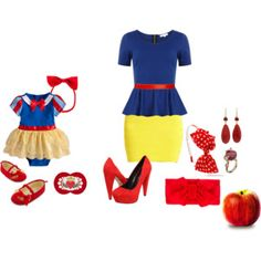 snow white baby and mommy Mom Costumes, Diy Halloween Costumes, Baby Cosplay, Snow White Birthday, Baby In Snow, Snow Outfit, Disney Outfits, Disney Dresses, Baby Party