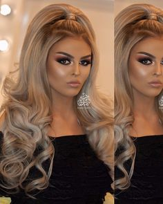 Bridal Hair Updo, Bridal Hair And Makeup, Bride Makeup, Hair Makeup, Formal Hairstyles For Long Hair, Fancy Hairstyles, Bride Hairstyles, Long Hair Styles, Makeup