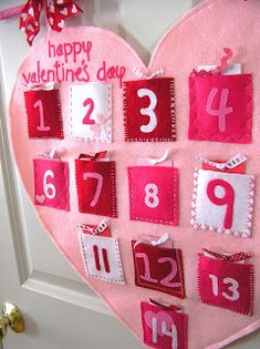 I've been busy working on this Valentine's Day Countdown for my daughter the past few days. It hangs on our front closet in our great room, ...