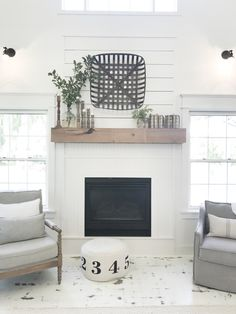 Fall mantle styling guide by the dotted bow how to decorate the perfect modern farmhouse fall mantlescape Farmhouse Style Kitchen, Modern Farmhouse Decor, Farmhouse Plans, Mantle Styling, Crazy Home, The Way Home, Colour Schemes, Great Rooms, House Tours