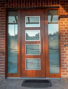 Doors with a personal touch Custom made aluminium entrance doors Front Door Entrance, Front Entrances, Shaped Windows, Steel Paint, Window Glazing, Window Sizes, Wood Images, Aluminium Doors, Extruded Aluminum