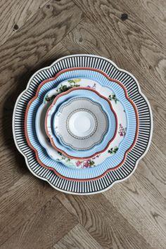 Stunning stack of plates. Porcelain by Lisbeth Dahl Copenhagen. Spring/summer 2014. #LisbethDahlCph #plates