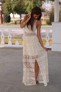 The Mint Julep Boutique- Shower of Flowers Maxi in ivory