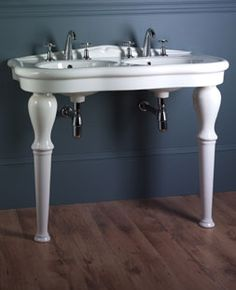 More affordable Elysee 1100 double console basin and legs from Aston Matthews at Bathroom Styling, Bathroom Interior Design, Hexagon House, Master Suite Bathroom, Basin Sink Bathroom, Bathroom Fixtures, Steam Showers Bathroom, Luxury Bath, Beautiful Bathrooms
