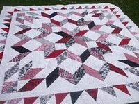 I have a carpenter's star pattern that was done by a friend of mine in Queen size. How do I get her 96 square quilt down to a full size pattern? Star Quilt Blocks, Star Quilt Patterns, Star Quilts, Easy Quilts, Colchas Quilting, Quilting Designs, Quilting Board, Half Square Triangle Quilts, Square Quilt