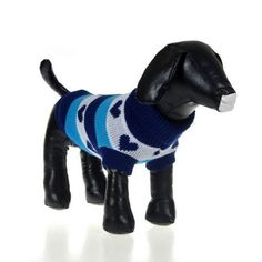 Weixinbuy Small Pet Dogs Cat Stripes Knit Sweater Outerwear Blue -- Be sure to check out this awesome product.