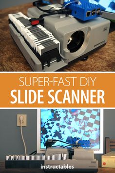 Hack an old slide projector and use a Raspberry Pi to make a super-fast slide scanner. #Instructables #electronics #technology #photography #scanning Raspberry Pi Camera, Diy Slides, Projector Lens, Maker Space, Design Your Dream House, Electronic Toys, Camera Case, Photography Projects, Fotografia