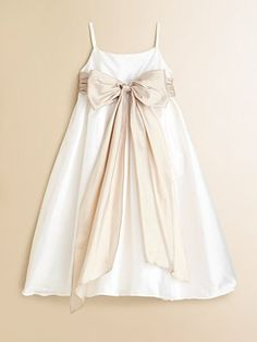 JENNA: Beautiful Satin Slip Dress with Sash at the Waist... Perfect for Your Flower Girl or Any Special Occasion, $89.00