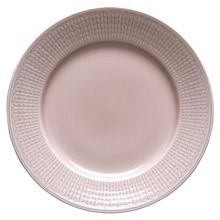 This salad plate is crafted of feldspar porcelain with a herringbone-style rim and rose-colored finish. Feldspar porcelain is fired at an extremely high temperature, which results in an incredibly durable product. Salad Plates, Beautiful Patterns, Tableware, Inspiration, Flat, Design, Kitchen, House, Furniture