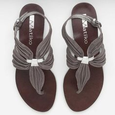 Matiko footwear - Micol Grey Sandals