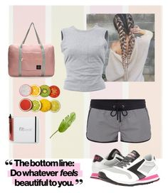 """""""fitness girl"""" by scfia on Polyvore featuring Brooks, T By Alexander Wang, O'Neill and Pier 1 Imports"""