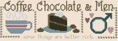 Coffeechokolate& menCross stitch pattern pdf by sunshinehomedecor, $3.90