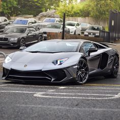 Lamborghini Aventador Super Veloce Roadster painted in Grigio Photo taken by: @jacklavphotography on Instagram (@elliejemmett on Instagram, her father, is the owner of the car)