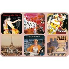 Drink coasters set of 6 assorted french vintage advertising posters: moulin rouge Casino Party Foods, Casino Night Party, Casino Theme Parties, Vintage Advertising Posters, Vintage Advertisements, Vintage Posters, Emmanuelle Alt, Cake Pops, Las Vegas