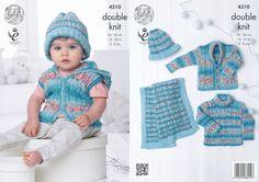 "King Cole DK Crochet Pattern 9026:/""Under the Sea/""Blanket,Cardigan,Jumper /& Toy"