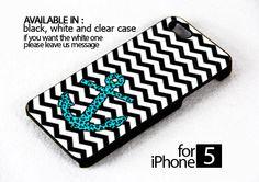 AJ 177 Mint Leopard Anchor - iPhone 5 Case