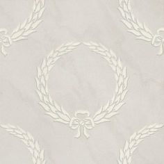 Gustavus Silver (GUV04003) - Zoffany Wallpapers - White laurel wreath motifs on a silvery blue background with a subtle marble veining effect - combining the natural beauty and elegant formality of Gustavian style. Additional colourways also available. Please request sample for true colour match.
