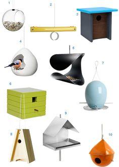 Get the Look: 28 Modern Bird Houses and Bird Feeders