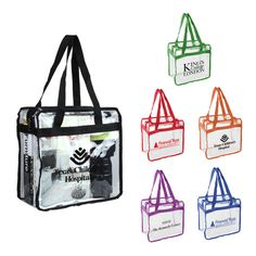 Have your client see clearly with our clear zippered travel PVC tote bag! The…