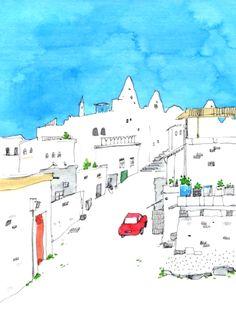travel on Illustration Served