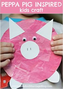 This Peppa Pig Inspired Kids Craft is so adorable and fun for kids to make!  From Love and Marriage blog.