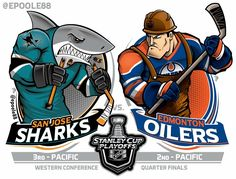 Introducing the Fan Victor Fantasy Sports Plug-in for Word Press! This fantasy sports software supports multiple game types and is used around the world. Hockey Logos, Nhl Logos, Hockey Teams, Hockey Stuff, Sports Logos, Western Conference, San Jose Sharks, Edmonton Oilers, National Hockey League