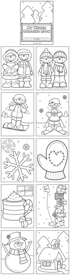 Winter Coloring Book - 11 pages including the cover!