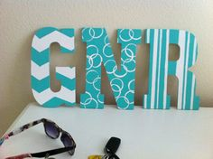 Dorm room craft... Only repinned this because its my initials :)