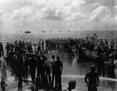 Line crossing ceremony aboard USS Coral Sea, 15 Nov 1943. (US National Archives)