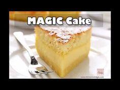 Banana Magic 3 Layer Custard Cake | Kitchen Nostalgia