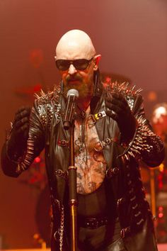 Rob Halford, out and proud singer of Judas Priest. so METAL!!!!