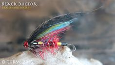 Black Doctor Variant. Salmon Tubes Flies. The River Alta Series. Tied by Torve