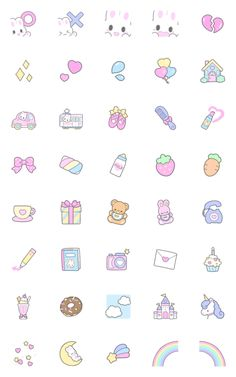 Cute Small Drawings, Mini Drawings, Pop Stickers, Kawaii Stickers, Kawaii Doodles, Cute Doodles, Easy Doodle Art, Doodle Art Journals, Pink Wallpaper Iphone
