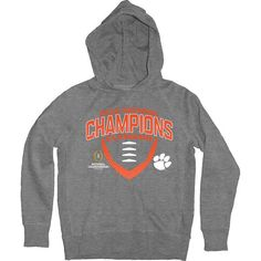 Clemson Tigers Blue 84 Youth College Football Playoff 2016 National Champions Pullover Hoodie - Heathered Gray - $34.99