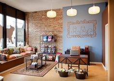 -Repinned- Dog grooming reception Area.