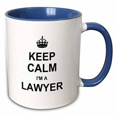 3dRose InspirationzStore Typography  Keep Calm Im a Lawyer  funny law profession gift  job work pride  11oz TwoTone Blue Mug mug_194470_6 ** Visit the image link more details. (This is an affiliate link)