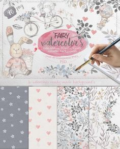 Posted by @newkoko2020 Fairy watercolors Bundle by Mikibith on @creativemarket