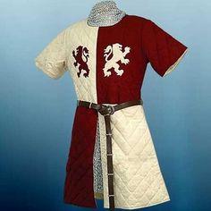 MEDIEVAL KNIGHT King Richard Lionheart GAMBESON ARMOR