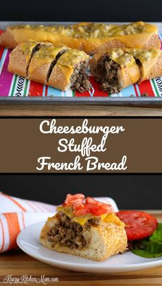 Your friends are gonna love this cheeseburger stuffed French bread. It's perfect for the big game this weekend.