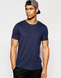 ASOS Muscle T-Shirt With Crew Neck And Stretch - Total eclipse #style #fashion #moda