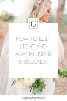 how to edit light and airy in lightroom in under 5 seconds and speed up your photography workflow Grab the free presets here: http://eepurl.com/dioHMr