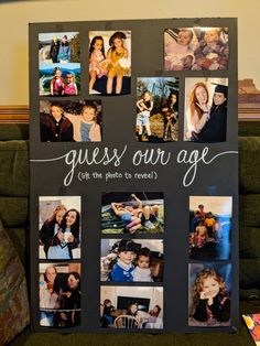 College graduation party fun, have the guests try to guess the graduates age
