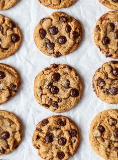 Chocolate Chip Cookies Recept, Chocolate Chips, Halloumi, Cookie Desserts, Yummy Treats, Baking Recipes, Food And Drink, Favorite Recipes, Sweets