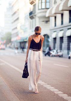 Wide summer pants. Via fashion-clue