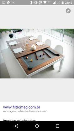 Mesa jantar e sinuca